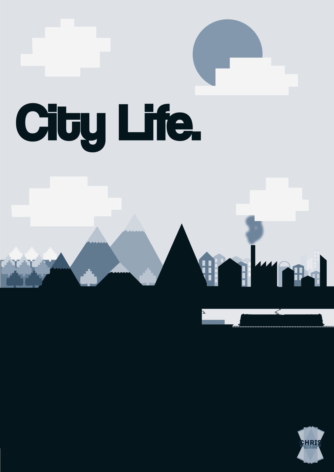City Life - Interior Deco Poster